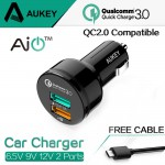 Aukey CC-T7 Qualcomm Quick Charger 3.0 с поддержкой Quick Charger 2.0